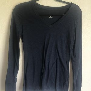 4/$20 Mossimo blue long sleeved top v-neck small